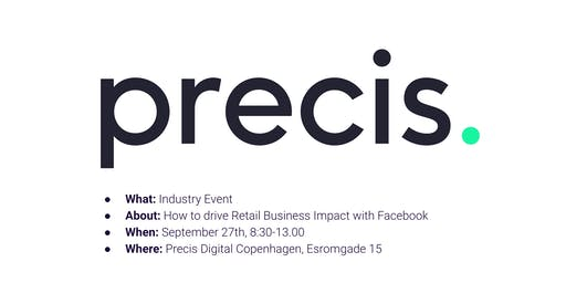 How to drive Retail Business Impact with Facebook