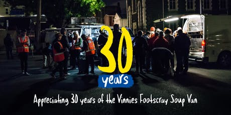 Vinnies Footscray Soup Van 30th Anniversary tickets