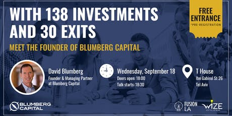 With 138 Investments and 30 Exits - Meet the Founder of Blumberg Capital tickets