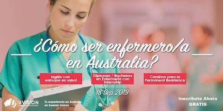 Como ser Enfermero/a en Australia tickets
