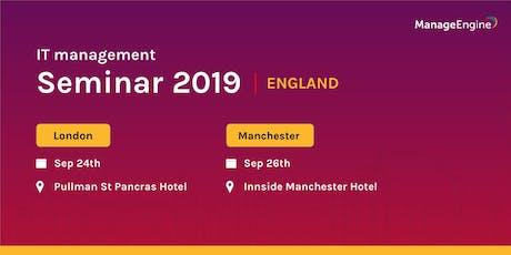 ManageEngine IT management seminar - London tickets