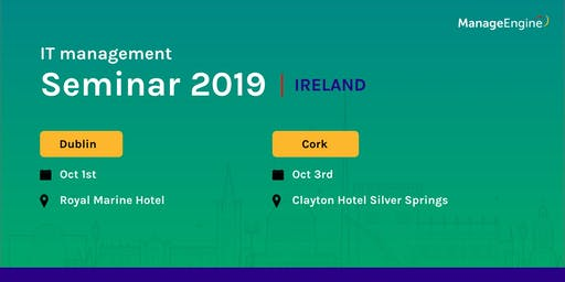ManageEngine IT management seminar - Cork