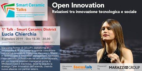 Lucia Chierchia - Open Innovation. Relazioni tra innovazione tecnologica e sociale biglietti