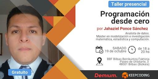 Taller presencial Programación desde Cero - Demium&KeepCoding - Bilbao