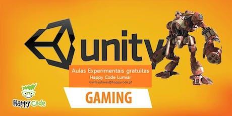 Aula Experimental de Programação de Jogos - Unity (12-17 anos) bilhetes