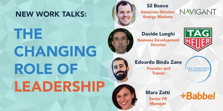 New Work Talks - The Changing Role of Leadership tickets