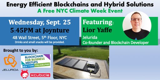 Energy Efficient Blockchains and Hybrid Solutions - Free NYC Climate Event