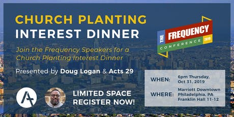 Church Planting Interest Dinner at Thriving Frequency 2019 tickets