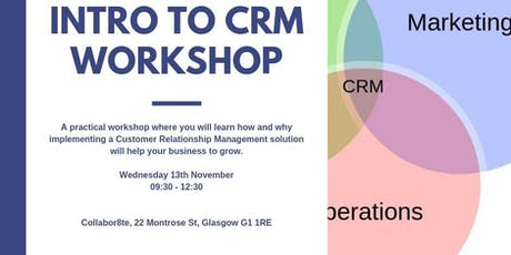 Intro to CRM workshop tickets