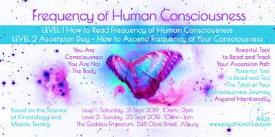 Frequency of Human Consciousness: Level 1 Reading Freq. & Level 2 Ascension