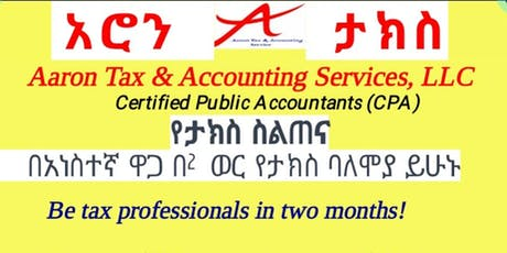 Professional Tax Trainings - Individual & Bussiness Taxation tickets