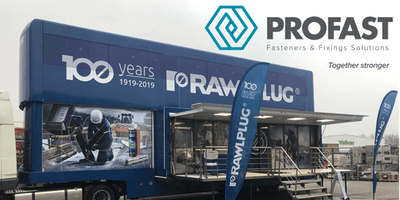Profast - Rawlplug Global Academy Truck visits Northern Ireland - Belfast