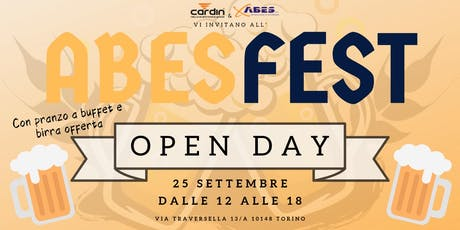 "Welcome to ""ABES FEST"" open day, seminario formativo by Abes srl & Cardin biglietti"