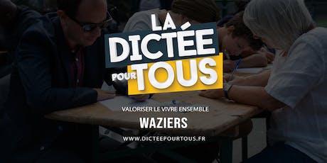 La dictée pour tous à Waziers billets