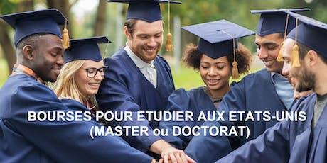 Webinaire 1 : bourses d'études Fulbright et partenaires (Master et PhD) billets