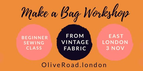 Beginners Sewing Workshop: Make a zipper pouch from vintage fabric tickets
