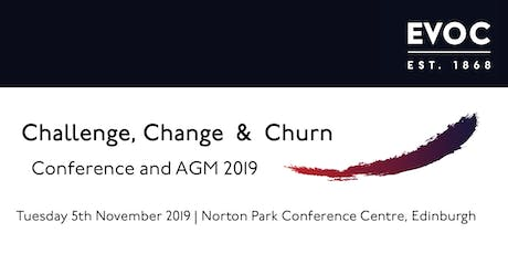 EVOC Conference and AGM 2019: Challenge, Change & Churn tickets