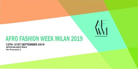 Afro Fashion Week Milan 2019 biglietti