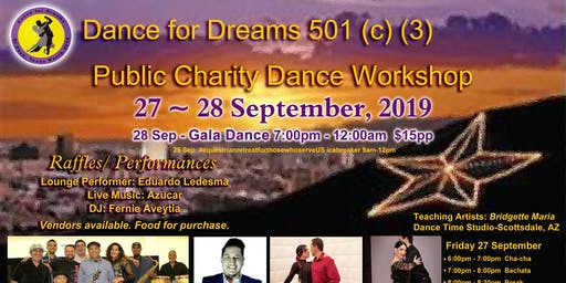 Dance for Dreams Sun Star City Dance Workshop & Gala Dinner/Dancing Event