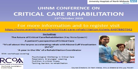 Critical Care Rehabilitation tickets