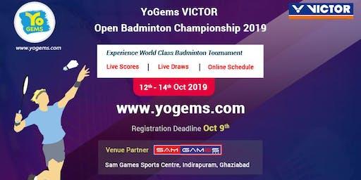YoGems VICTOR Open Badminton Championship 2019