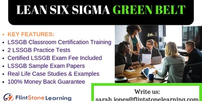 Lean Six Sigma Green Belt(LSSGB) Certification Training in Arcadia, CA