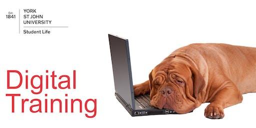 WE1: Website CMS Basic training (Thur 24th Oct. 2019 10:00-12:00)