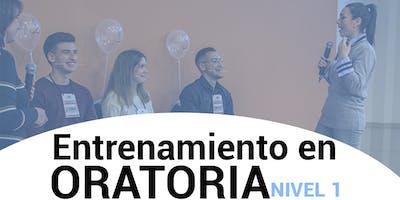 ENTRENAMIENTO EN ORATORIA - NIVEL 1 - CORRIENTES CAPITAL