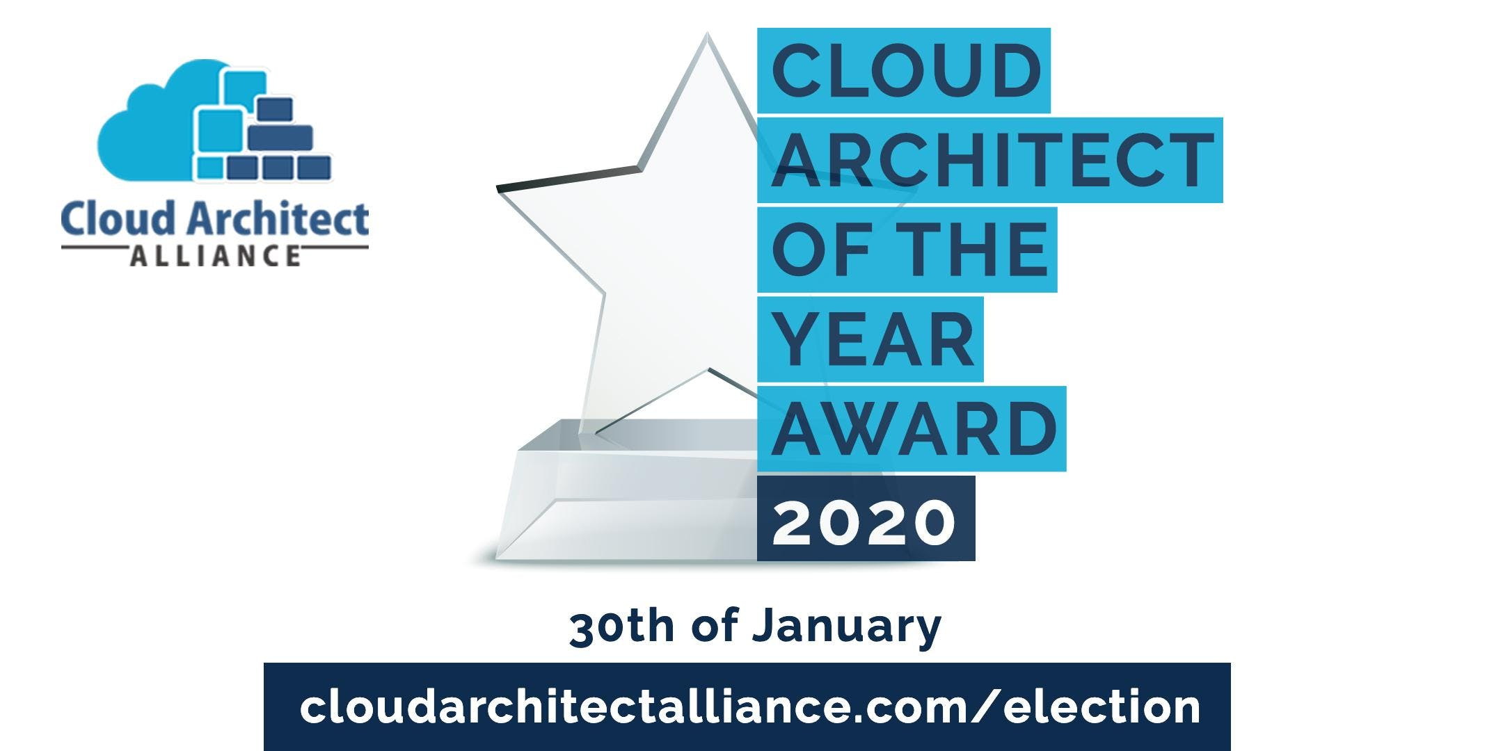 Cloud Architect of the Year Election - 30th of January
