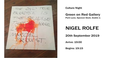 Culture Night - Nigel Rolfe - On Loss Unfolds tickets
