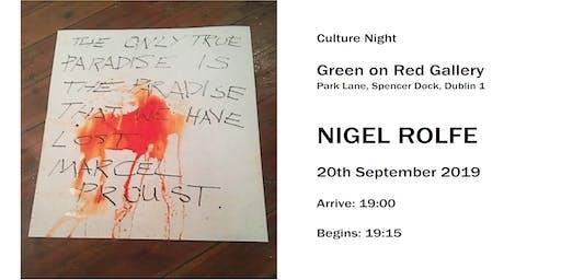 Culture Night - Nigel Rolfe - On Loss Unfolds