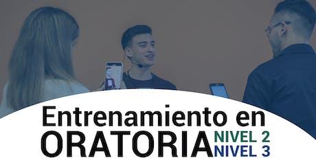 ENTRENAMIENTO EN ORATORIA - NIVEL 2 y 3 - CORRIENTES CAPITAL - 06 y 07  de Diciembre entradas