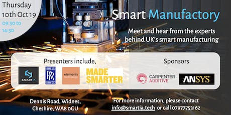 Smart Manufactory Event - Thursday 10th October 2019. Widnes, UK tickets