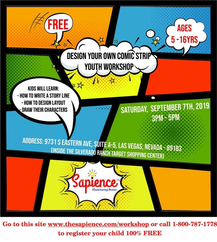 Free Comic Strip Youth Workshop for your kids Tickets, Sat