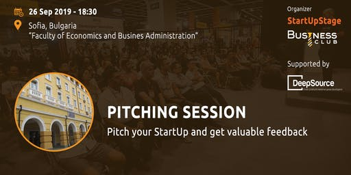 StartUpStage - Pitching session