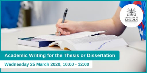 Academic Writing for the Thesis or Dissertation