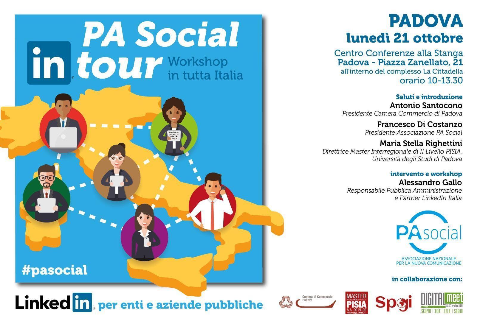 PA Social In Tour (Padova) - LinkedIn per enti e aziende pubbliche