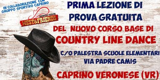 LEZIONE DI PROVA GRATUITA A CAPRINO VERONESE (VR) - COUNTRY LINE DANCE