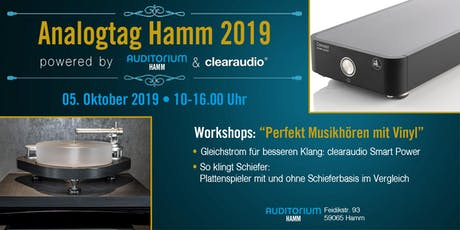 Analogtag Hamm 2019 – powered by clearaudio Tickets