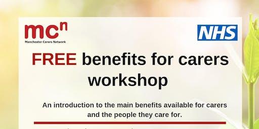 Free Benefits for carers workshops