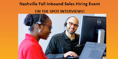 Nashville Fall Inbound Sales Hiring Event