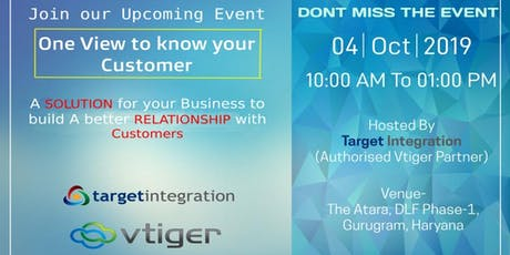 Vtiger One View Conference - Manage Your Customers in a Better Way tickets