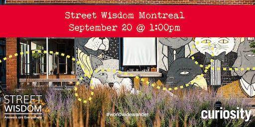 Street Wisdom MONTREAL: World Wide Wander 2019 (Sept 20)