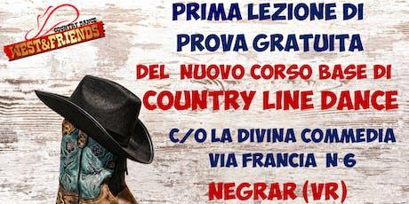 LEZIONE DI PROVA GRATUITA A NEGRAR (VR) - COUNTRY LINE DANCE biglietti
