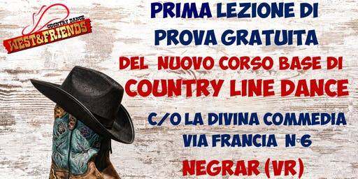 LEZIONE DI PROVA GRATUITA A NEGRAR (VR) - COUNTRY LINE DANCE