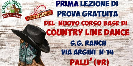 LEZIONE DI PROVA GRATUITA A PALU' (VR) - COUNTRY LINE DANCE biglietti