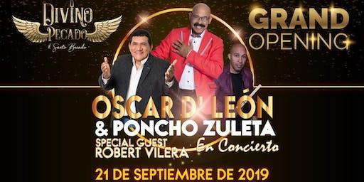 Oscar D' Leon y Poncho Zuleta en concierto Grand Opening de Divino Pecado.