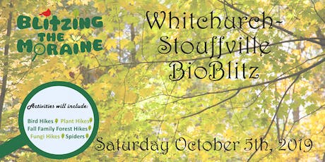 Blitzing the Moraine 2019! Whitchurch-Stouffville BioBlitz tickets