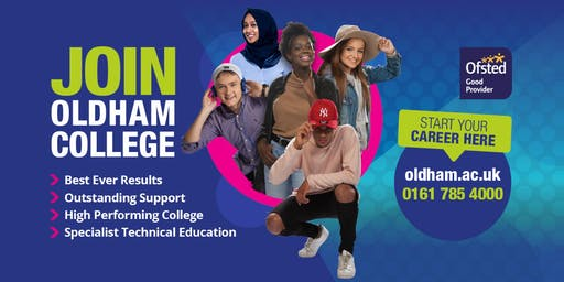 Open Day at Oldham College - 05th October, 10am - 1pm