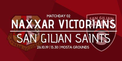 Matchday 02: Naxxar Victorians vs San Giljan Saints
